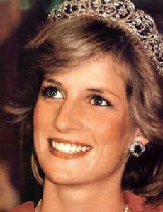 Lady Diana with her dazzling smile